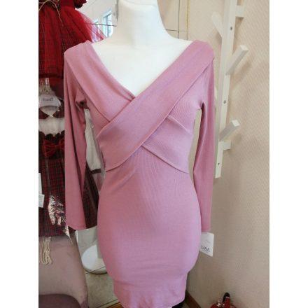 Asszimetrikus piros ruha