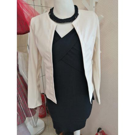 Levélmintás muszlin ruha púder színben