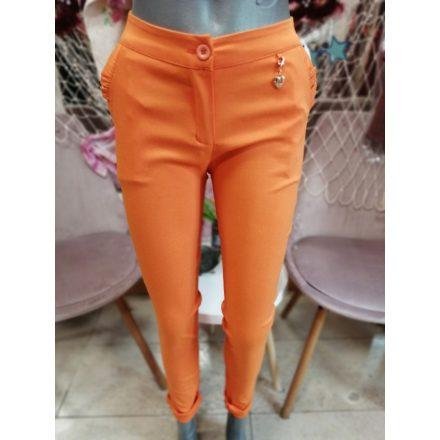 Sztreccses nadrág khaki színben