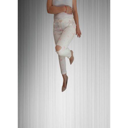 Csillagmintás sportos szaggatott nadrág
